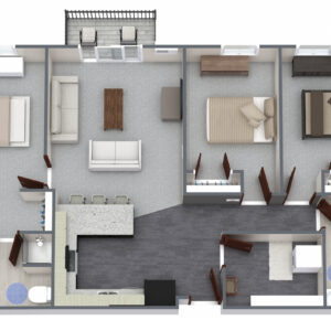 2nd Ave - Unit F - 3 bed 2 bath