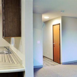Entry, Kitchen, Living Area & Hallway