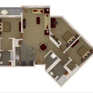 Three Bedroom - Two Bath