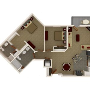 Two Bedroom - Two Bath