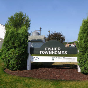 Fisher Townhomes Sign