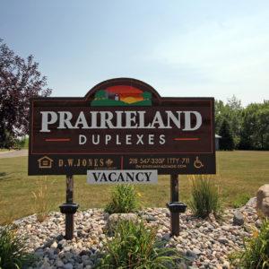 Prairieland Duplexes Sign