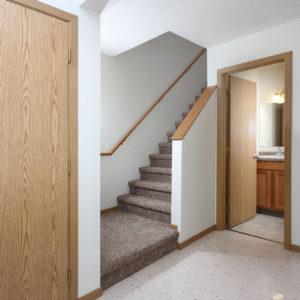 Lower Level Bathroom & Stairway