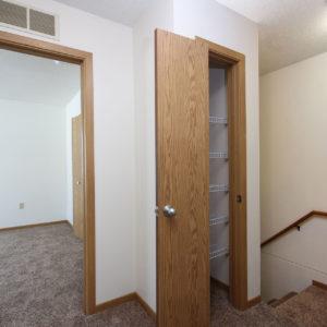 Hallway Closet & Stairway Down