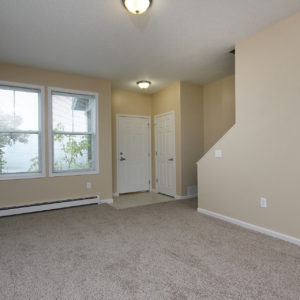 Entry, Stairway & Living Room