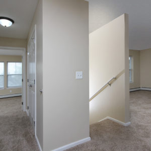 Bedroom One, Entry Stairs & Living Room
