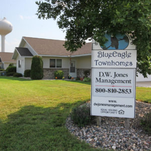 Blue Eagle Townhomes Sign