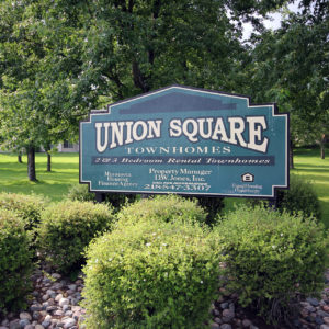 Union Square Townhomes Sign