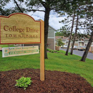 College Drive Townhomes Sign