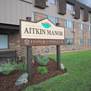 Aitkin Manor Sign