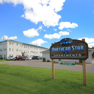 Northern Star Apartments Sign