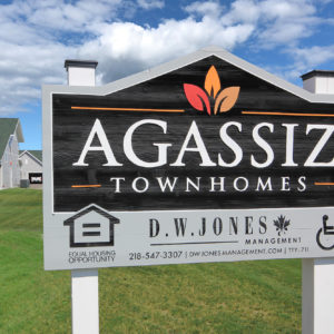 Agassiz Townhomes Sign