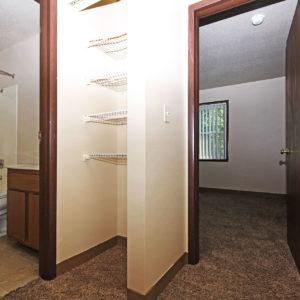 Bathroom, Closet & Bedroom One