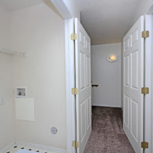 Upper Hallway & Laundry Hookups