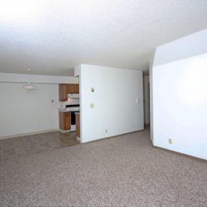 Living Room, Dining Room & Kitchen