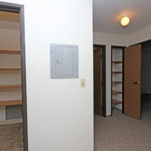 Entry Closet & Bathroom Closet