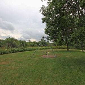 Swingset & Green Space