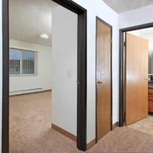 Bedroom, Hallway & Bathroom