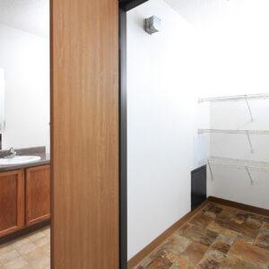 Hallway Storage & Bathroom
